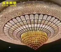 定制水晶灯非标工程水晶灯售楼部沙盘灯酒店大厅大堂大型水晶吊灯